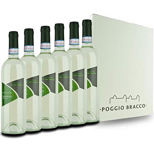 Poggio Bracco - Serprino frizzante Colli Euganei DOC - Vino tipico Veneto frizzante tradizionale da pasto | 6 x 750 ml
