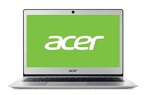 "Acer Swift 1   SF113-31 - Ordenador portátil ultraslim de 13.3"" HD (Intel Celeron N3350, 4 GB RAM, 64 GB eMMC, UMA, Windows 10 Home con S Mode & Office 365 Personal) Plata - Teclado QWERTY Español"