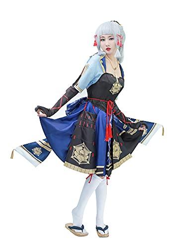 DAZCOS Women Genshin Impact Kamisato Ayaka Cosplay Costume (Large)