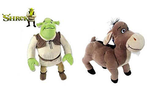 United Labels Pack 2 Peluches OGRO Y ASNO DE Shrek Burro (23 CM)