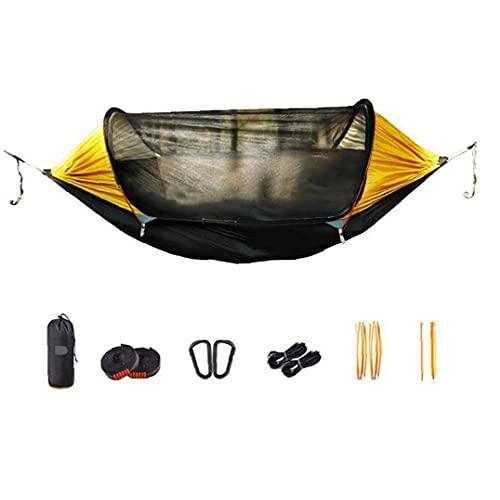 EElabper Camping Hammock Parachute Bug Net con Carabiners Hammock Mosquito Bug for Backpacking Travel