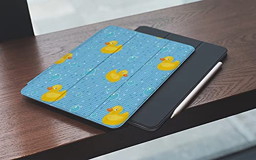 MEMETARO Funda para iPad 10.2 Pulgadas,2019/2020 Modelo, 7ª / 8ª generación,Pato de Goma Kids Cartoon Bath Ducks Burbujas de jabón, Smart Leather Stand Cover with Auto Wake/Sleep