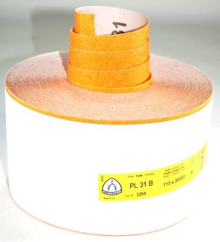 Klingspor 3294 Schleifrolle PL 31 B, 115X50000 mm, 1 Stk. Korn 80