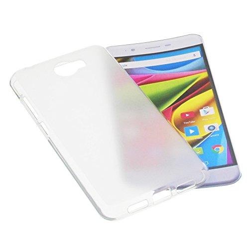 foto-kontor Tasche für Archos 50 Cobalt Gummi TPU Schutz Handytasche milchig transparent
