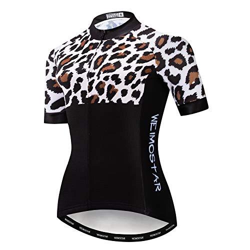 Weimostar Damen Radsport Trikot Kurzarm Bike Shirt Fahrrad Tops Atmungsaktive Bike Trikots Reflective