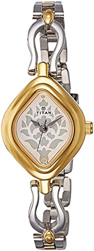Titan Analog White Dial Women's Watch -NK2536BM02