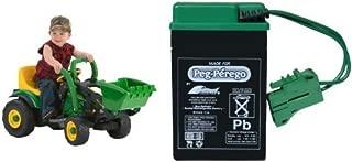 Peg Perego John Deere Mini Power Loader with 6 Volt Replacement Battery Bundle