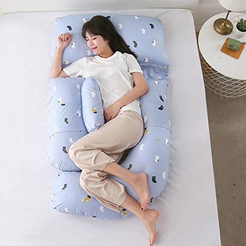 B/H Pregnancy Maternity Support Pillow,Waist-protecting side pillow-U1,Washable Pregnancy Pillow Full Body
