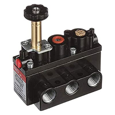 Solenoid Air Control Valve, 1/4 in, 4-Way from Aro