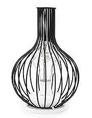 jieyun Tafellamp Licht, Geometrische Koper Draad Lamp, Retro Art Industriële Ijzer Hallow Led lampen voor Woonkamer Slaapkamer Nachtkastje Bureau
