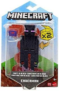 Minecraft Craft-A-Block Assortment Figures, Authentic Pixelated Video-Game Characters, Action Toy to Create, Explore and Survive, Collectible Gift for Fans Age 6 Years and Older