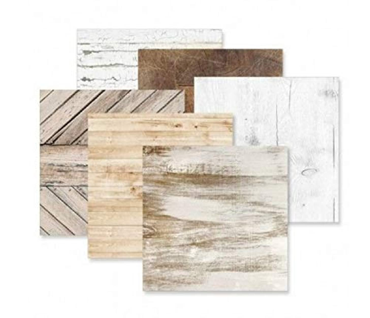 Timber Wood Designer Paper Pack 12 Sheets of 12x12 Double-Sided Printed Paper by Creative Memories