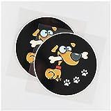 WYZDGTD Sticker de Carro by Lindo Perro Mordiendo Hueso patrón Vinilo Coche Pegatina calcomanía Animal Divertido 2 Piezas 12.5 x 12.5 cm