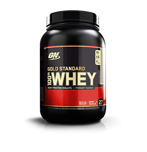 OPTIMUM NUTRITION GOLD STANDARD 100% Whey Protein Powder, Cookies & Cream 2LB