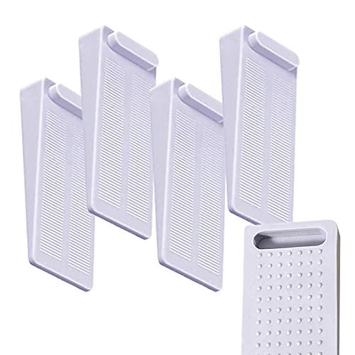 4 topes de puerta antideslizantes, combinables, altura regulable, espacio entre 0,2 y 5,6 cm, protección de pared, mesa y silla fija, parqué, baldosas de cerámica