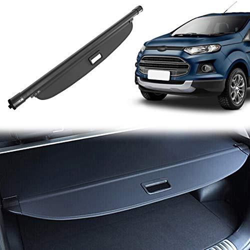 OREALTOOL Laderaumabdeckung Kofferraum Schutz Abdeckung Hundedecke Auto Cargo Cover für Ford EcoSport 2012-2018 Schwarz Ausziehbar Kofferraumabdeckung Rollo