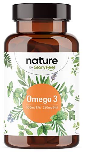 Omega 3 Kapseln Hochdosiert - 1000mg Fischöl PRO Kapsel - 500mg EPA + 250mg DHA - Essentielle Omega-3-Fettsäuren aus nachhaltigem Fischfang (Anchovis) - Laborgeprüft in Deutschland hergestellt