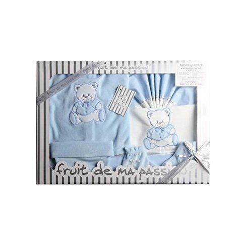 Fruit De Ma Passion - Parure De Draps+Ensemble Bébé 8 Pièces - - Blanc Et Bleu
