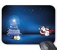 サンタクロースと雪だるまのマウスパッド 耐久ファッション