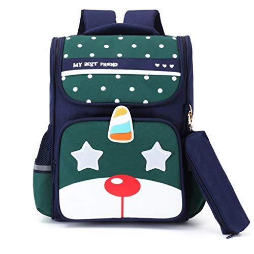 mochilas escolares para niños Niños niñas escuela primaria, 6-10 años 2-5 clase Estudiantes a prueba de agua Campus femenino bolsa de viaje mochila de dibujos animados Con diseño (B,DL)