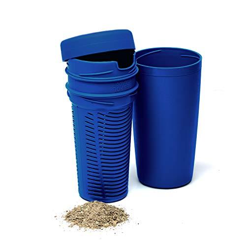 BALIBETOV Despolvillador para Yerba Mate I Accesorio para Calabaza Mate I Yerbera Separa polvillo de la Yerba I Reduce Acidez (Azul Francia)