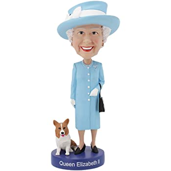 Royal Bobbles Statuina Bobblehead Regina Elisabetta Ii Con Il Suo Corgi Amazon It Giochi E Giocattoli