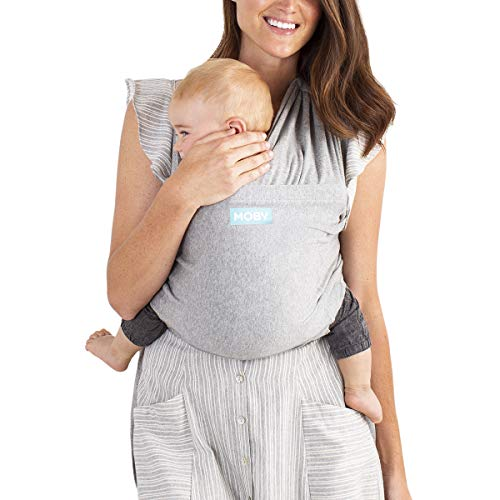 Moby Fit Baby Carrier Wrap (Grey) - Designed To Combine The Best Features Of A Baby Wrap and Baby Carrier In One - The Perfect Child Carrier - Great For Babywearing, Nursing, And Keeping Baby Close
