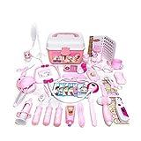 Niños Doctor Kit 46pcs Pretend Pretend la Enfermera del Doctor Juguetes-n-Play Médico Juguetes Set de Color Rosa con Carry Caja para Regalos de cumpleaños de los niños de Vacaciones