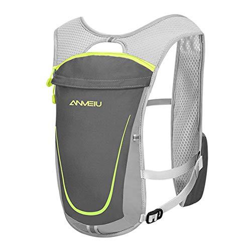 Mochila de hidratación 5L, mochila independiente de la bolsa de agua de múltiples bolsillos, chaleco transpirable ligero Bolsa de ciclismo Bolsa de escalada para esquiar, correr, senderismo, ciclismo