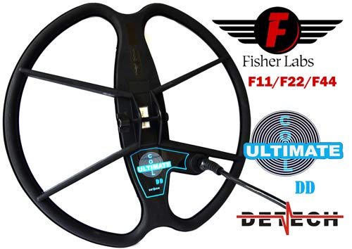 """DETECH Search Coil For Fisher F11, F22, F44 Metal Detectors With Coil Cover Protector Included (13\"""")"""