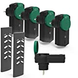 Juego de 5 tomas de corriente Ucomen con mando a distancia para exteriores - Indicador LED de estado - 3680 W