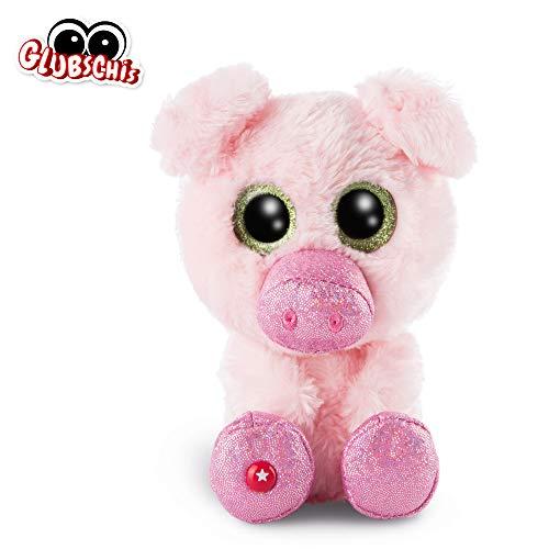 NICI 46629 GLUBSCHIS Kuscheltier Schwein Zuzumi 15cm, Flauschiges Plüschtier mit großen Glitzeraugen, süßes Stofftier für Kinder und Kuscheltierliebhaber, pink-rosa