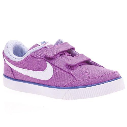 Nike Capri 3 TXT (PSV) - Zapatillas de Tenis para niña - tamaño: 2.5y, Color: LSR prpl/White pr vlt vlt FRC