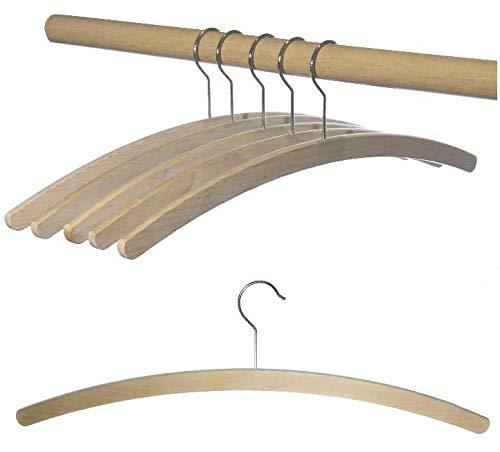 Hagpiel' - Grucce in legno di faggio, semplici grucce grezze, lunghezza 42 cm, salvaspazio, ecologiche, made in EU 10 pezzi