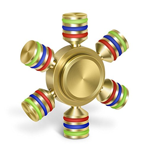 Unique Antique Fidget Spinners - Upgraded High Speed Antique Fidget 6 Sided Metal Aluminum Alloy Spinner Toy in Premium Gift Box, Stress Reducer Relieves ADHD, EDC Focus Toy