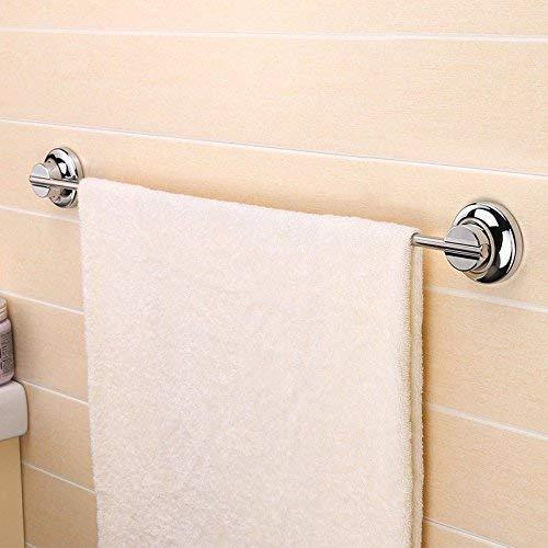 QTQHOME Armatur Bad Saugnapf Handtuchhalter Starke Saugnapfstange Bad Wand Handtuchhaken,C,Länge 80 cm