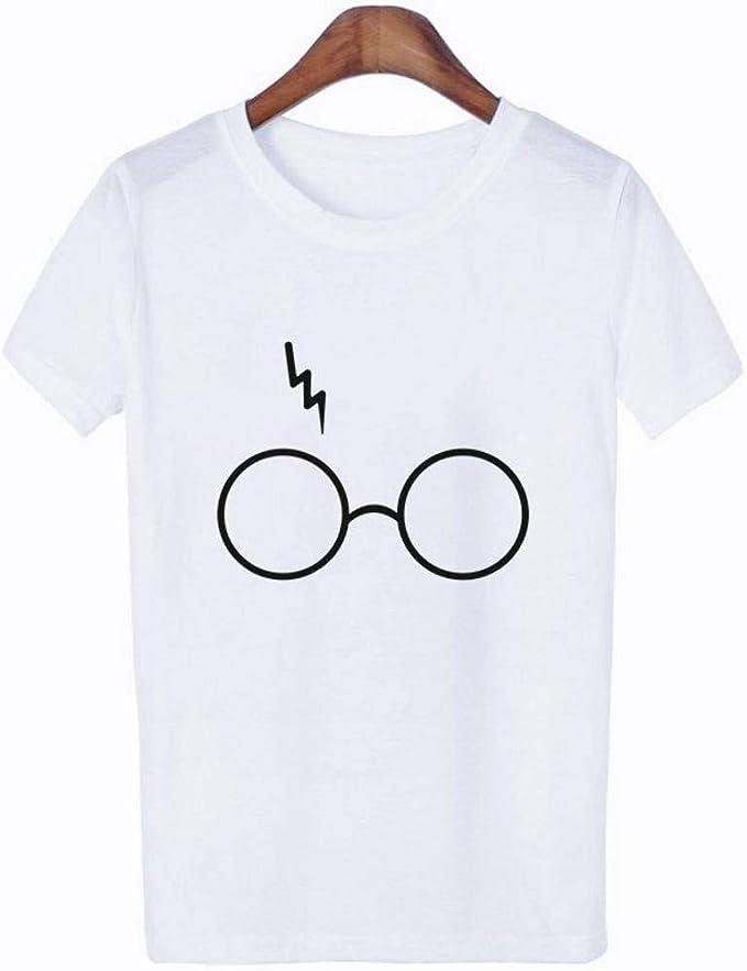 Blanco Good dress Camisetas Casuales de Verano para Mujeres l Cuello Redondo Camiseta de Manga Corta Suelta Top de Camiseta con Estampado Gr/áfico Simple Patr/ón Personalizable