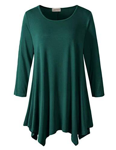 WLLW Women Khaki Asymmetric Hem Short Sleeve with Sequin Inserts Shirt Top, US-Medium, Asian-Large, Khaki