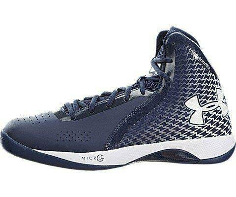 New Under Armour 1246940-410 UA Micro G Torch 12 Midnight Navy/White Bball Shoes