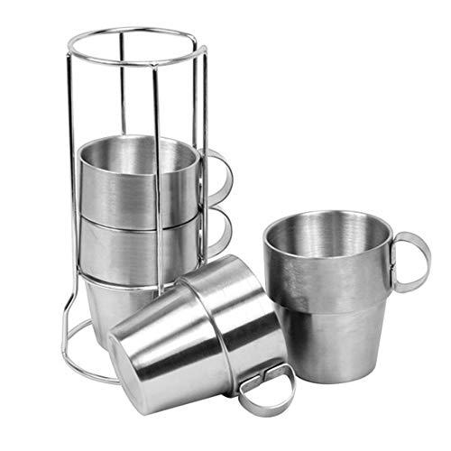 ZFW Cup Piece Set Picknick Isolierung Verbrühschutz Kaffeebecher Bier Edelstahlbecher Bruchsicher Sicher und ungiftig