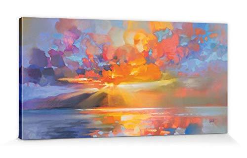 1art1 Scott Naismith - Arran Equinox Bilder Leinwand-Bild Auf Keilrahmen   XXL-Wandbild Poster Kunstdruck Als Leinwandbild 100 x 50 cm