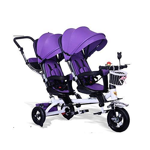 YUMEIGE Dreiräder Kinder-Dreirad-Markise kann in Mehreren Schritten eingestellt Werden Lastgewicht 50kg 1-6Years Altes Geburtstagsgeschenk (Junge/Mädchen)