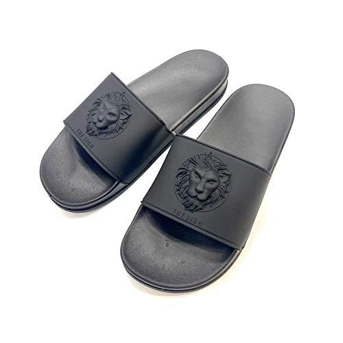 HUSHUI Bañarse Sandalias Zapatillas para Mujer,Zapatillas Antideslizantes al Aire Libre, Sandalias de baño para el hogar-Negro 1_43,Zapatos de Playa y Piscina para