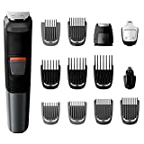 Philips Norelco 5000 Multigroom, MG5700/49 Groomer, All-in-One Groomer with Steel Blades and Reinforced Guards
