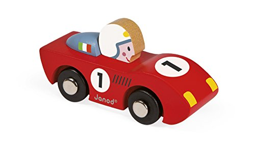Janod - J08545 - Mini voiture en bois Story Racing - Speed (2 modèles assortis)
