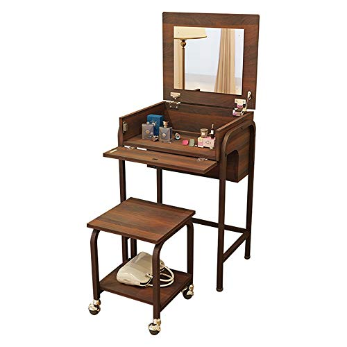Best Bargain ChenyanAwesom Dressing Tables Vanity Makeup Table with Flip Top Mirror Solid Rubber Woo...