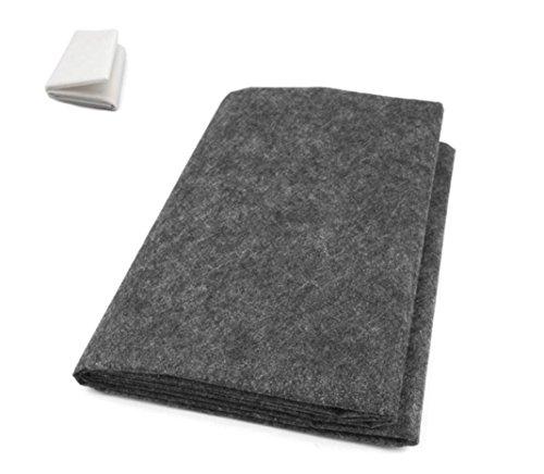 ZADAWERK® Bügelvlies - 40+18 - Grau - 90 x 100 cm - einseitig - nähen - Stoffe