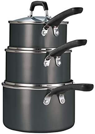 Tramontina 6 Pc Aluminum Stackable Sauce Pan Set Metallic Gray product image
