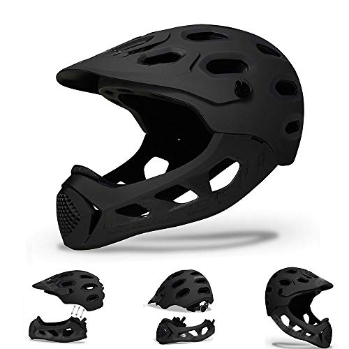 BDTOT Integrale Casco Bici Mountain Bike Staccabile Casco Full Face Bici MTB Mountain Road per Bicicletta Extreme Sports Casco Bambini Casco Integrale per Adulti MTB Cross-Countr