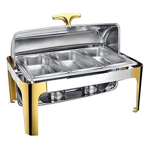 Chafing Dish Chauffe Plat Professionnel 9L Buffets Chauffants Chafing Dish de Table Acier Inoxydable pour Les Buffets Banquets Fêtes à la Maison